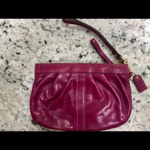Leather Coach wristlet